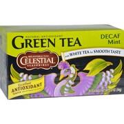 Celestial Seasonings Green Tea Caffeine Free Mint - 20 Tea Bags - Case of 6