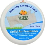 Citrus Magic Solid Air Freshener - Pure Linen - Case of 6 - 8 oz