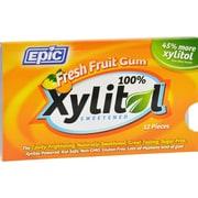 Epic Dental Gum - Xylitol - Fresh Fruit - 12 Count - Case of 12