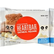 Corazonas Oatmeal Squares - White Chocolate - Case of 12 - 1.76 oz