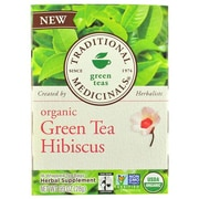 Traditional Medicinals Tea - Organic - Green Tea - Hibiscs - 16 ct - Case of 6