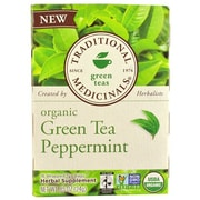 Traditional Medicinals Tea - Organic - Green Tea - Ppprmnt - 16 ct - Case of 6