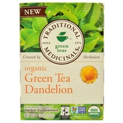 Traditional Medicinals Tea - Organic - Green Tea - Dandeln - 16 ct - Case of 6