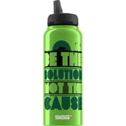 Sigg Water Bottle - Cuipo Be The Solution Not The Cause - 1 Liter