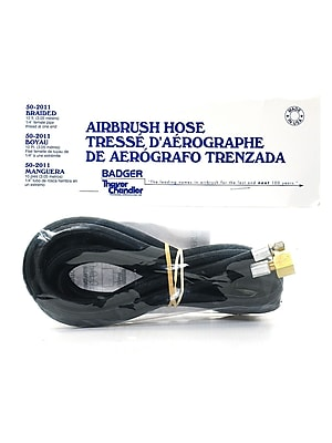 Badger Airbrush Parts 10 Ft. Braided Hose With 1/4 In. Female Adapter 50-2011 (50-2011) 2246485