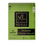 Canson Xl Recycled Drawing Pads 11 In. X 14 In. Pad Of 60 Sheets Wire Bound Top [Pack Of 2] (2PK-100510916)