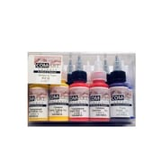 Com-Art Opaque And Transparent Airbrush Color Kit Set Of 10 (8-100-7)