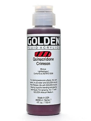 Golden Fluid Acrylics Quinacridone Crimson 4 Oz. (2290-4) 2245361