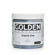 Golden Heavy Body Acrylics Graphite Gray 16 Oz. (1160-6)