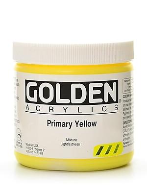 Golden Heavy Body Acrylics Primary Yellow 16 Oz. (1530-6) 2168593