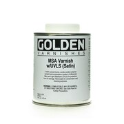 Golden Msa (Mineral Spirit Acrylic) Varnish With Uvls Satin 16 Oz. (7735-6)