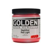 Golden Open Acrylic Colors Naphthol Red Light 8 Oz. Jar (7210-5)