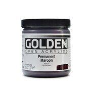 Golden Open Acrylic Colors Permanent Maroon 8 Oz. Jar (7252-5)