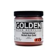 Golden Open Acrylic Colors Quinacridone/Nickel Azo Gold 8 Oz. Jar (7301-5)