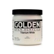 Golden Open Acrylic Colors Titanium White 8 Oz. Jar (7380-5)
