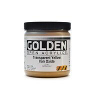 Golden Open Acrylic Colors Transparent Yellow Iron Oxide 8 Oz. Jar (7386-5)