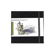 Hand Book Journal Co. Travelogue Drawing Journals 5 1/2 In. X 5 1/2 In. Square Ivory Black (721331)