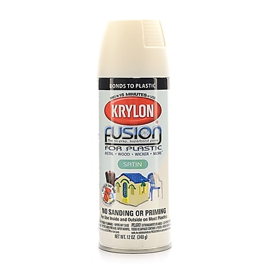 krylon fusion spray paint for plastic dover white satin. Black Bedroom Furniture Sets. Home Design Ideas