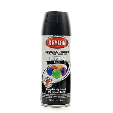 krylon indoor outdoor spray paint flat black 51602. Black Bedroom Furniture Sets. Home Design Ideas