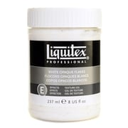 Liquitex Acrylic Texture Gel Mediums White Opaque Flakes 8 Oz. [Pack Of 2] (2PK-7308)