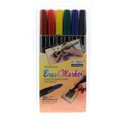 Marvy Uchida Brush Marker Set Of 6 (1500-6A)