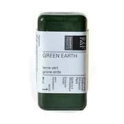 R  And  F Handmade Paints Encaustic Paint Green Earth 40 Ml [Pack Of 2] (2PK-101D)