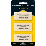 Prismacolor Premier Magic Rub Vinyl Erasers, 3 Pack