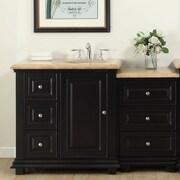 Silkroad Exclusive 56'' Single Bathroom Modular Vanity Set with Sink of Right