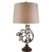 OK Lighting Tunno 31'' H Table Lamp with Drum Shade