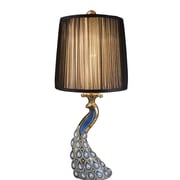 OK Lighting Glorieux 30'' H Table Lamp with Drum Shade