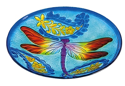 Evergreen Enterprises, Inc Dragonfly Kaleidescope Birdbath WYF078278308792