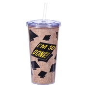 Evergreen Enterprises, Inc I'm So Done Printed Burlap 20 Oz. Insulated Cup