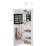 FamisCorp Over the Door Jewelry Armoire with Mirror