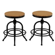 FamisCorp Adjustable Height Swivel Bar stool (Set of 2)