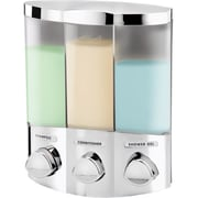 Better Living Products Euro Trio Dispenser with Translucent Container; Chrome
