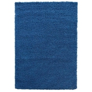 sweet home stores Cozy Shag Navy Blue Area Rug; 3'3'' x 4'7''