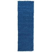 sweet home stores Cozy Shag Navy Blue Area Rug; Runner 2'7'' x 8'