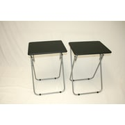eHemco Folding TV Tray (Set of 2); Black