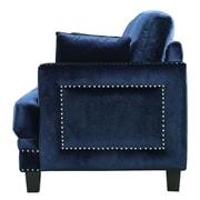 Meridian Furniture USA Ferrara Nailhead Armchair; Navy