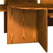 Ironwood Glacier 1'' H x 23.88'' W Desk Corner Connector; Dixie Oak