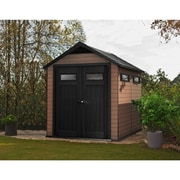 Keter Fusion 7.5 Ft. W x 9.4 Ft. D Wood Plastic Composite Outdoor Storage Shed