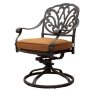 GatherCraft Flagstaff Swivel Dining Arm Chair with Cushion (Set of 2)