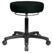 Perch Chairs and Stools Height Adjustable Medical Stool; Black Fabric