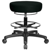 Perch Chairs and Stools Height Adjustable Medical Stool with Foot Ring; Black Fabric