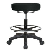 Perch Chairs & Stools Height Adjustable Stool w/ Foot Ring; Black Fabric