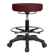 Perch Chairs and Stools Height Adjustable Stool with Foot Ring; Burgundy Fabric