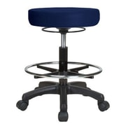 Perch Chairs & Stools Height Adjustable Stool w/ Foot Ring; Imperial Fabric