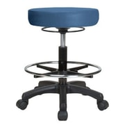 Perch Chairs & Stools Height Adjustable Stool w/ Foot Ring; Newport Fabric