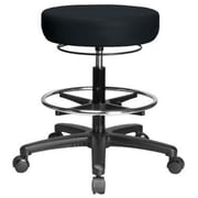 Perch Chairs & Stools Height Adjustable Medical Stool with Foot Ring; Black Vinyl