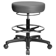 Perch Chairs and Stools Height Adjustable Medical Stool with Foot Ring; Grey Vinyl